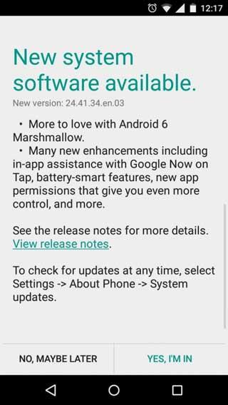 جهاز Moto G الجيل الثاني يبدأ بالحصول على الأندرويد 6.0