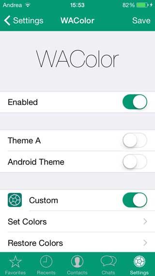 أداة WAColor لتغيير ألوان وشكل الواتس آب