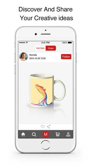 تطبيق Bigger Lens Store لإنشاء أشياء تذكارية - بيع وشراء المنتجات