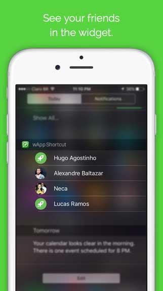 تطبيق wApp Shortcut Pro لإضافة اختصارات في مركز الاشعارات