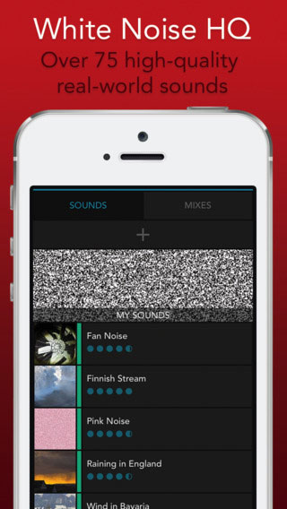 تطبيق White Noise HQ المساعد على النوم بأصوات مميزة