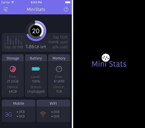 تطبيق MiniStats للحصول على إحصائيات حول جهازك