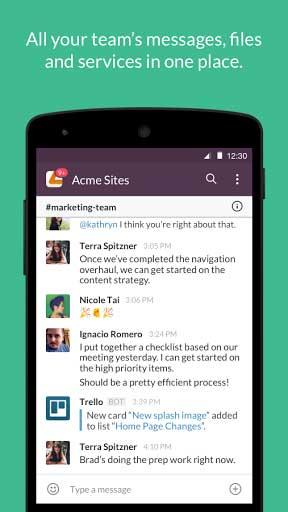 تطبيق Slack لإدارة فرق العمل والتواصل بين الأعضاء
