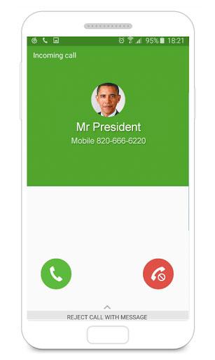 تطبيق Fake Call لإجراء والحصول على مكالمات زائفة