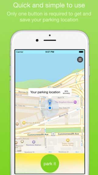 تطبيق ParkIt لمعرفة مكان ووقت نهاية ركن سيارتك