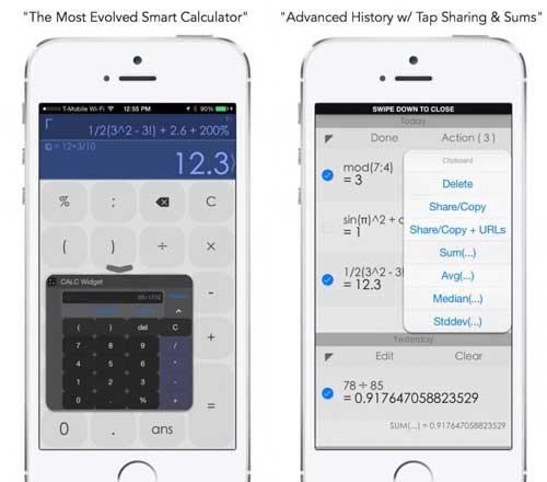 تطبيق CALC Smart حاسبة رائعة بمزايا كثيرة