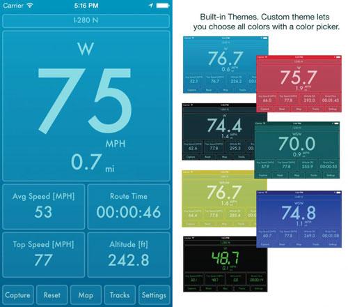 تطبيق Speed PRO+ لقياس سرعتك مع عرض الخرائط