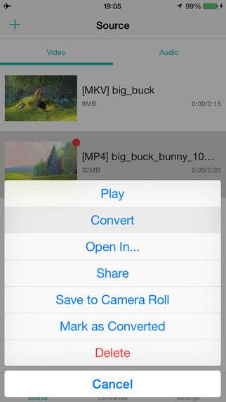 تطبيق iConv لاستخراج الصوت من الفيديو