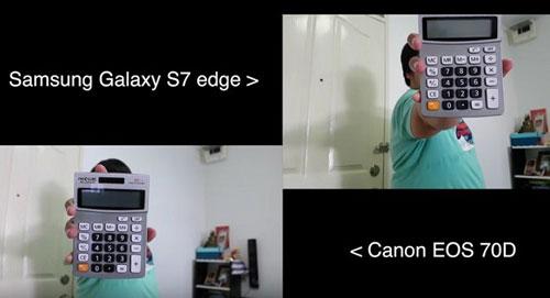 اختبار الكاميرا: جالكسي S7 ادج ضد كاميرا كانون EOS 70D