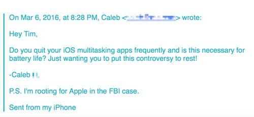 أبل تؤكد بأن عملية غلق التطبيقات من الخلفية ليس لها أثر على البطارية