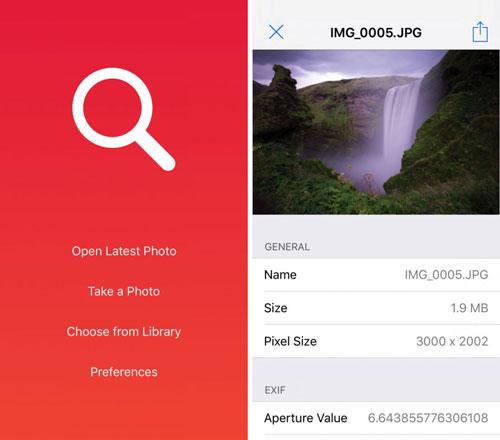 تطبيق Rexif لعرض معلومات الصور وتعديلها
