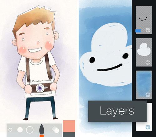 تطبيق Tayasui Sketches+ للرسم بالألوان الزيتية