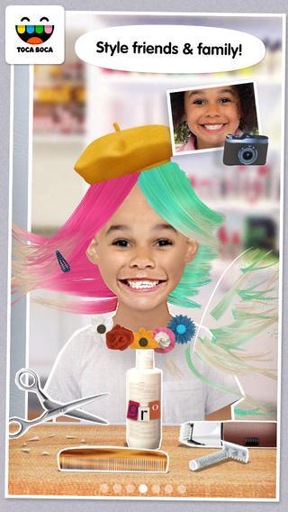 تطبيق Toca Hair Salon Me للعبث بالصور