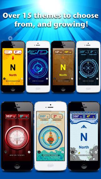 تطبيق Compass++ Digital PRO بوصلة بأشكال كثيرة