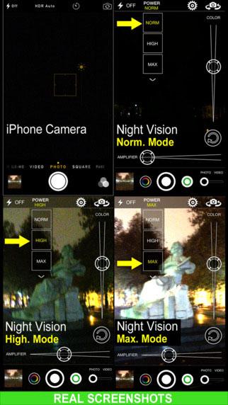 تطبيق Night Vision Camera للتصوير في الظلام
