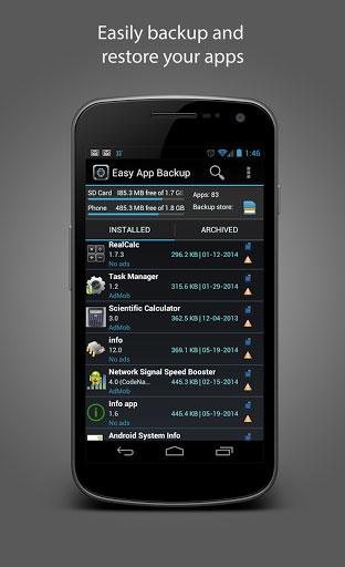 تطبيق Easy App Backup لأخذ نسخة احتياطية عن تطبيقاتك