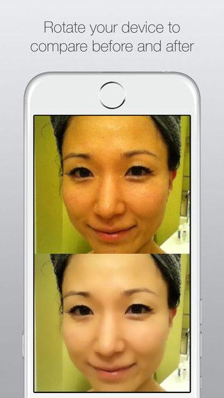 تطبيق CreamCam+ لتنقية الوجوه في الصور