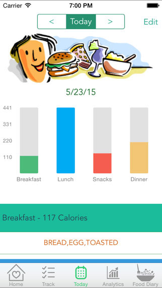 تطبيق Cravings للحصول على طاقتك اليومية