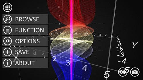 تطبيق VisualMATH 4D لرسم النتائج الرياضية