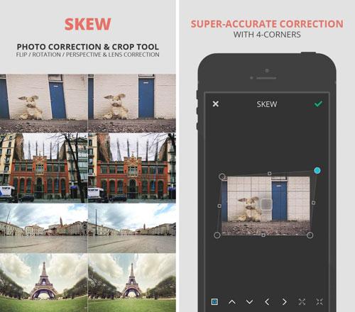 تطبيق SKEW لتعديل وتصحيح حالة الصور