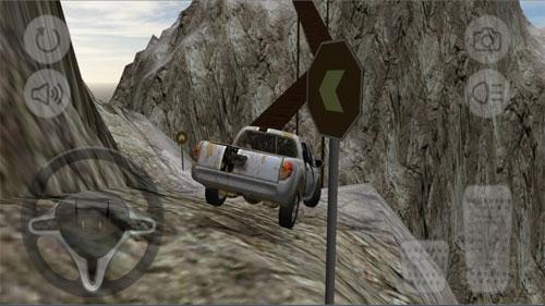 لعبة درب الخطر - لقيادة السيارات القوية على الجبال الصعبة