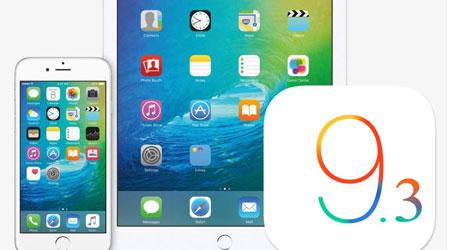 آبل تطلق رسميا التحديث الجديد iOS 9.3 - ما الجديد والمميزات ؟