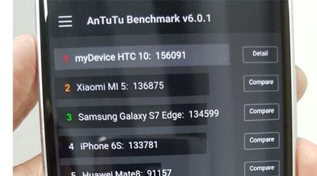 جهاز HTC 10 أسرع هاتف ذكي لحد الآن بحسب اختبار الأداء
