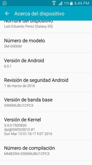 جهاز جالاكسي S5 يحصل على الاندرويد 6.0.1 حول العالم