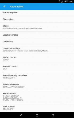 جهاز Xperia Z3 Tablet Compact يحصل على الأندرويد 6.0.1