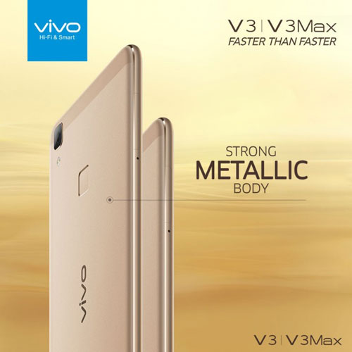 الإعلان رسميا عن الجهازين vivo V3 و V3Max بتصميم معدني