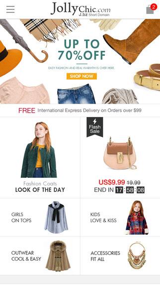 تطبيق JollyChic لشراء الملابس وأدوات النساء