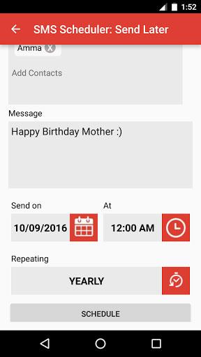 تطبيق SMS Scheduler لإرسال رسائل قصيرة في أوقات محددة
