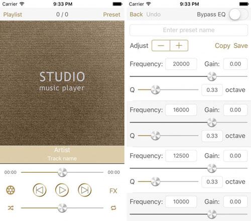 تطبيق Studio Music Player لتعديل الصوتيات