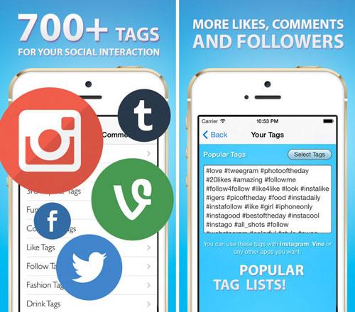 تطبيق Tags for Likes للحصول على أفضل الوسوم