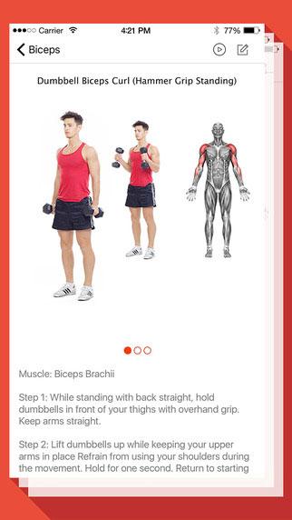 تطبيق Fitness and Bodybuilding لبناء عضلات الجسم