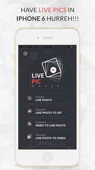 تطبيق Live Pic Maker لتحويل الصور إلى GIF وغيرها