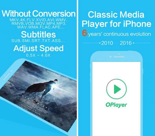 تطبيق video player OPlayer لتشغيل الفيديو مع الترجمة