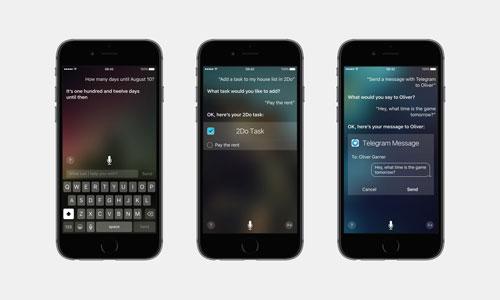 دمج Siri في عدة خدمات والتحكم في التطبيقات