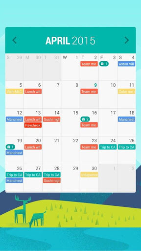 تطبيق Calendar Widget: Month لرسم خطتك الشهرية