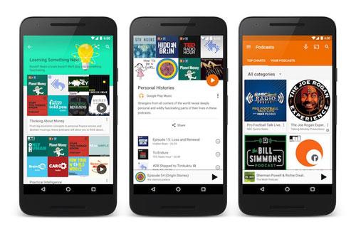 تطبيق Google Play music يضيف قسم البودكاست رسميا