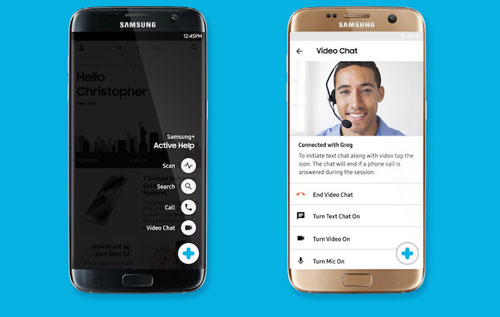 تطبيق Samsung+ للحصول على الدعم الفني من سامسونج