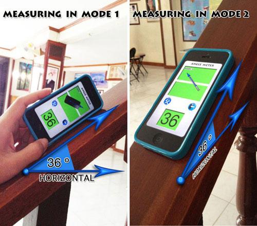 تطبيق iAngle Meter PRO لقياس درجة استواء الأسطح