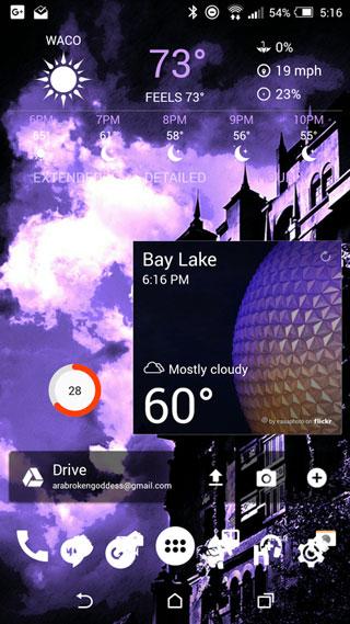 تطبيق Yahoo Weather لمعرفة حالة الطقس