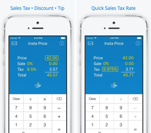تطبيق Insta Price Sales Tax لحساب الضرائب وغيرها