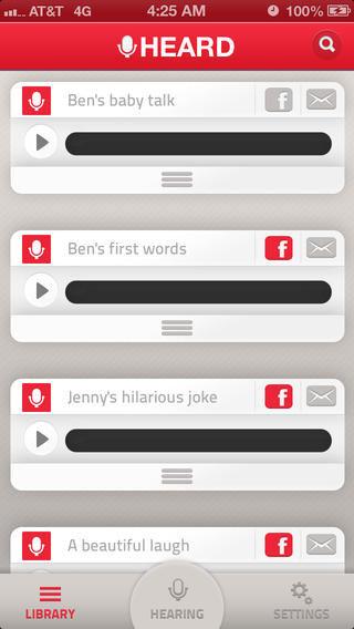 تطبيق HEARD لتسجيل الأصوات ومساعدتك على التذكر