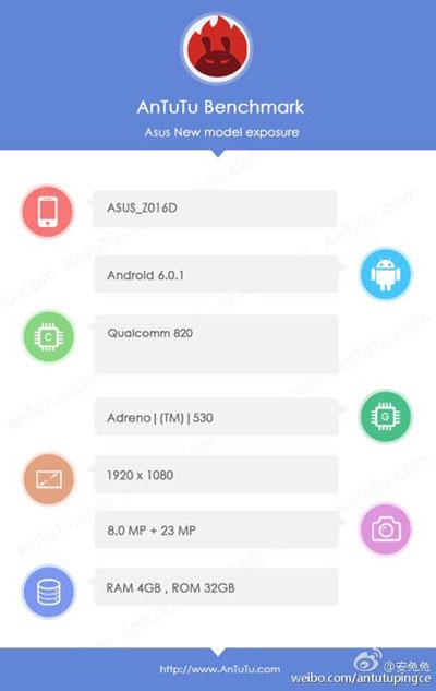 تأكيد المزايا التقنية لجهاز Asus ZenFone 3 من خلال منصة AnTuTu
