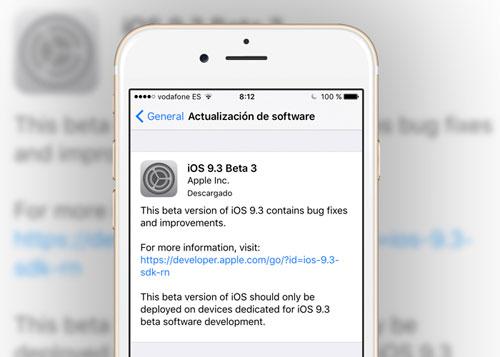 أبل ستقوم بإطلاق تحديث iOS 9.3.3 لحل مشاكل سابقة