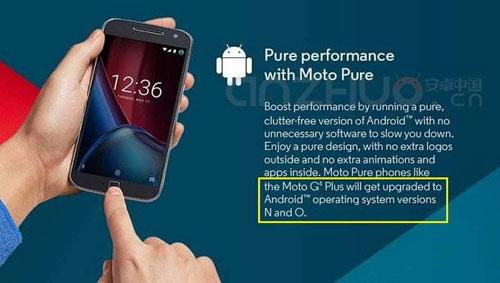 جهاز Moto G4 Plus سيحصل على تحديث الأندرويد N وحتى O !