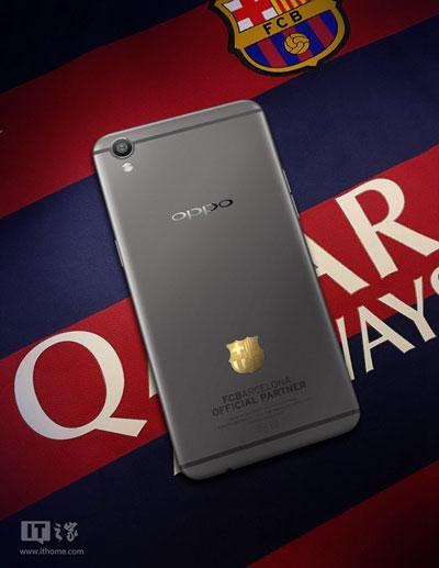 تسريب صور جهاز Oppo F1 Plus نسخة فريق برشلونة