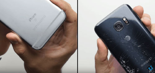 بالفيديو: اختبار سقوط جهاز جالاكسي S7 ضد الأيفون 6s